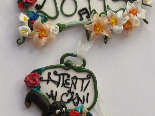 Idee regalo personalizzabili – targhetta di benvenuto da appendere – fimo – La bottega delle coccinelle