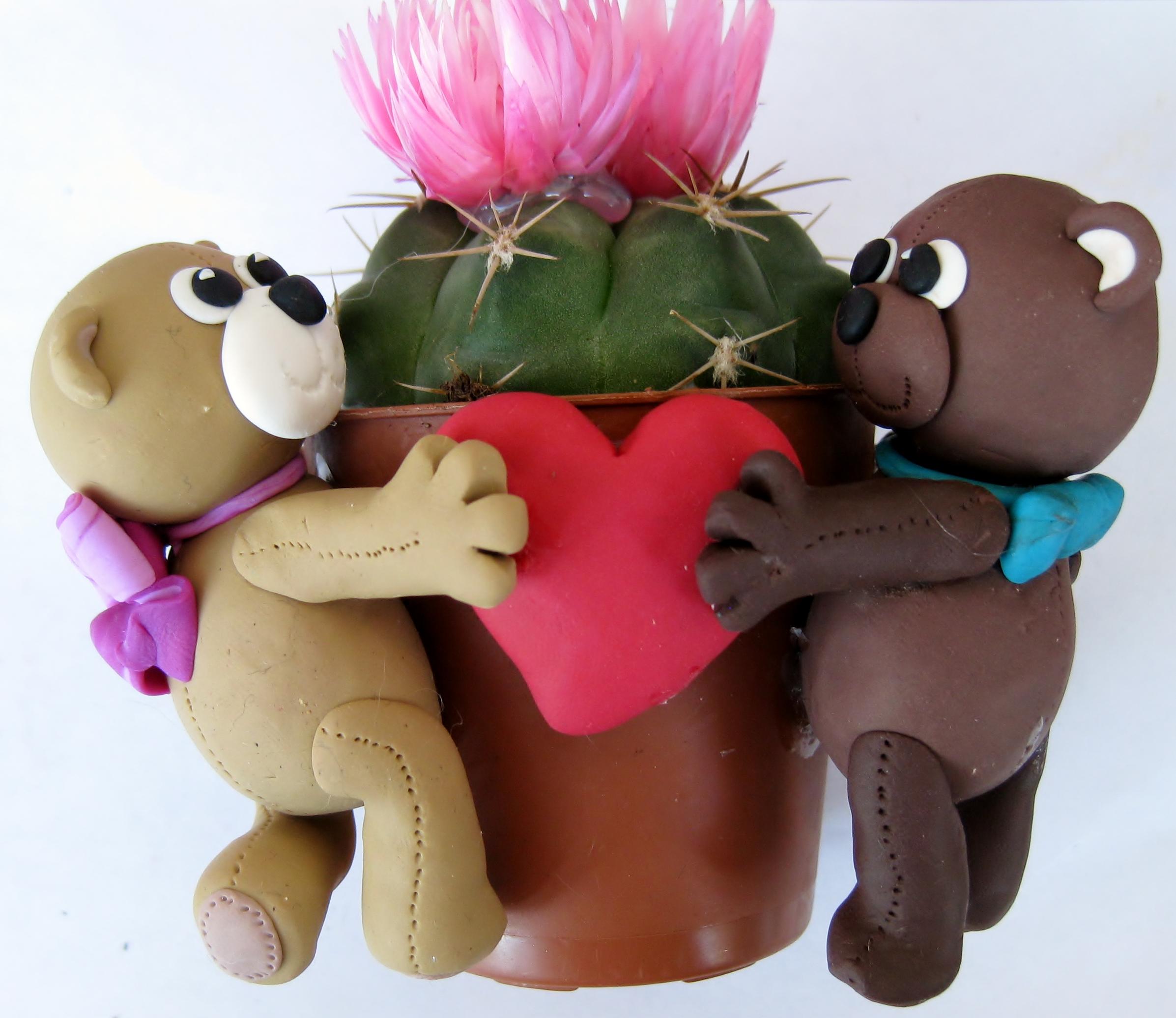 idee regalo per san Valentino, fatte a mano in fimo La bottega delle coccinelle