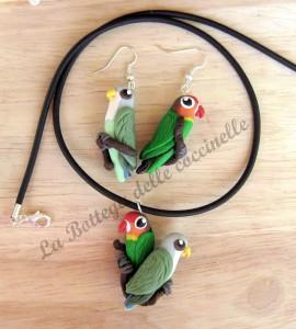 parure pappagalli persnalizzata