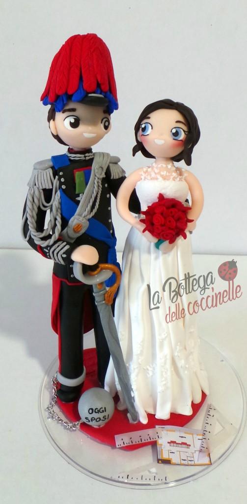 decorazione per torta di matrimonio con Carabiniere in GUS