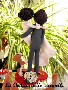 decorazione torta nuziale - personalizzata