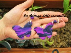 orecchini farfalla- handmade