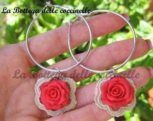 orecchini rosa - handmade