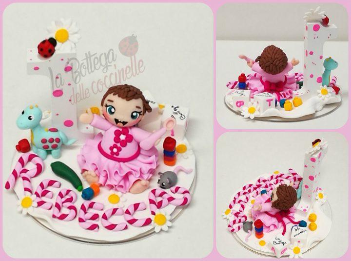 cake topper per bimbo - primo compleanno