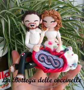 decorazione per torta nuziale - cake topper