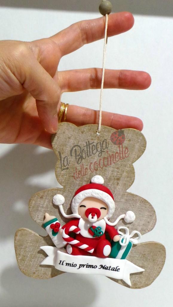 Decorazione di Natale fatta a mano in fimo