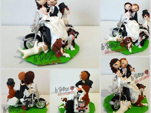 Cake topper in moto