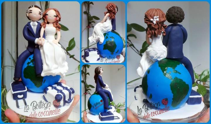 Molto wedding cake topper tema viaggio QJ08