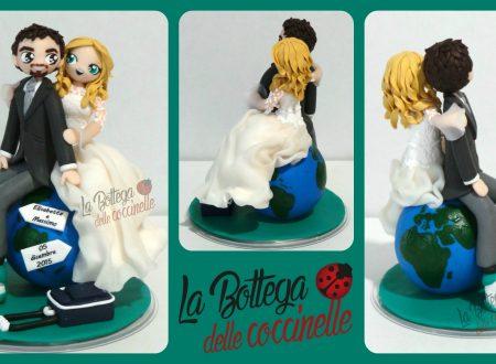 wedding cake topper tema viaggio