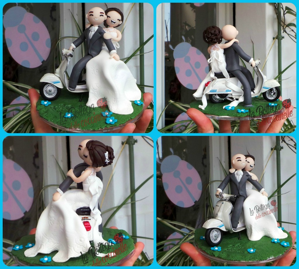 cake topper in vespa