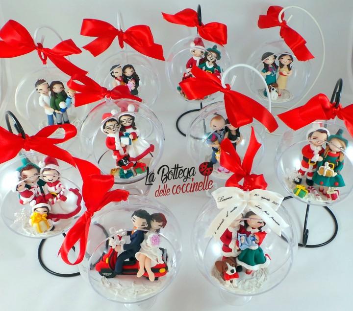 La Bottega delle coccinelle, decorazioni per Natale personalizzate realizzate a mano in fimo