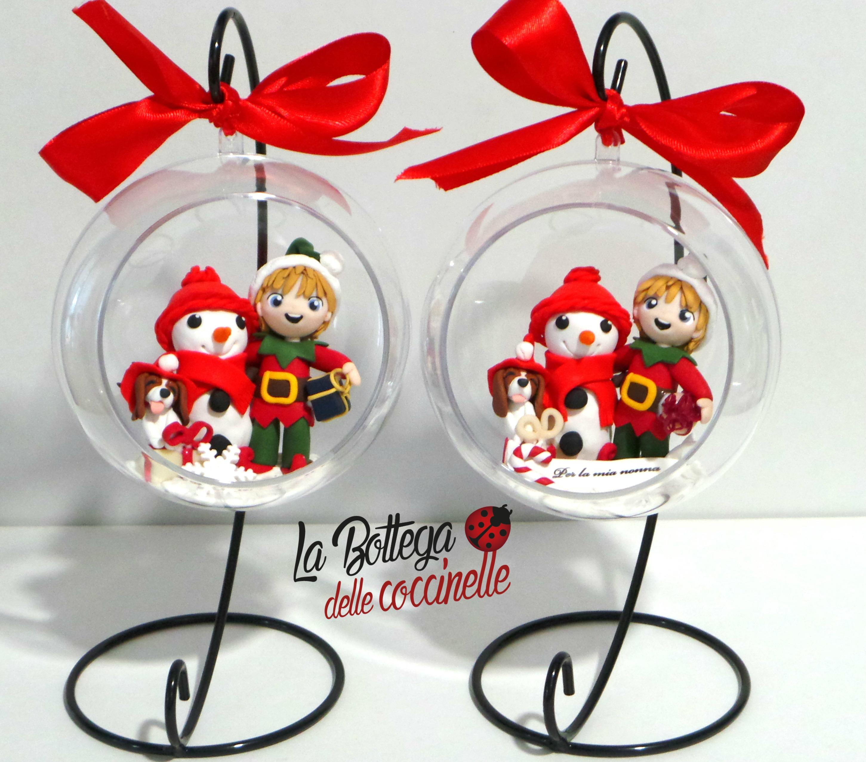 Top La Bottega delle coccinelle, decorazioni per Natale personalizzate  WG88