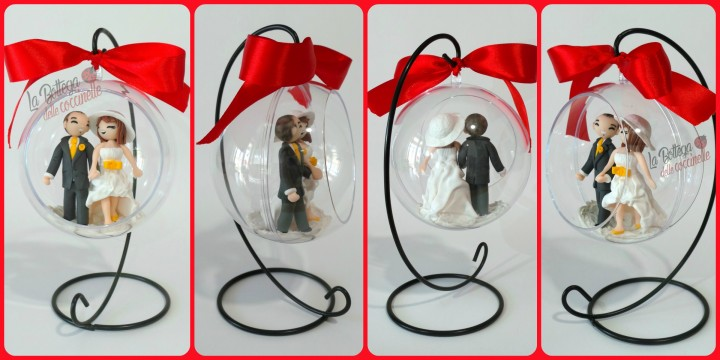 La Bottega delle coccinelle, decorazioni per Natale personalizzate realizzate a mano in fimo #labottegadellecoccinelle #handmade #fattoamano #fimo #Natale #decorazioni #regalidiNatale