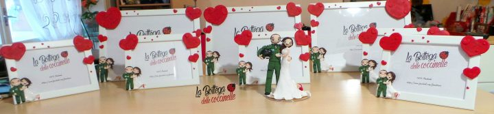 cornice personalizzata per matrimonio