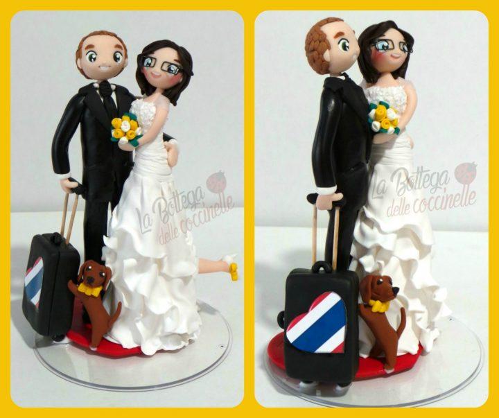 cake topper personalizzato tema viaggio