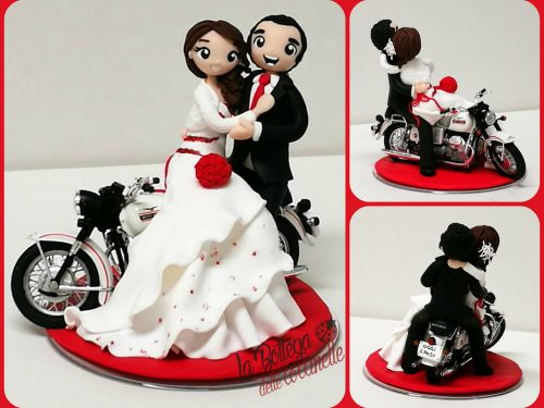 """cake topper """"in moto"""""""