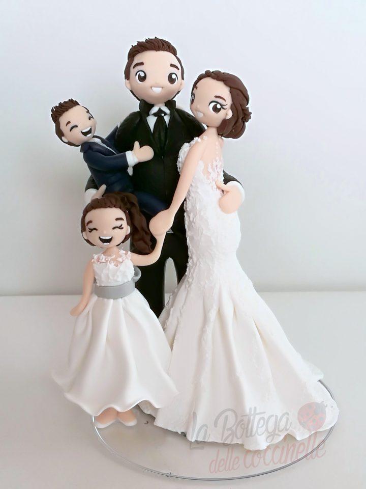 cake topper con tutta la famiglia