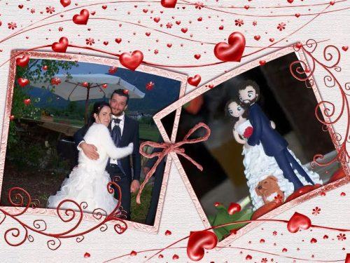 Le foto dei miei sposi con i loro cake toppers