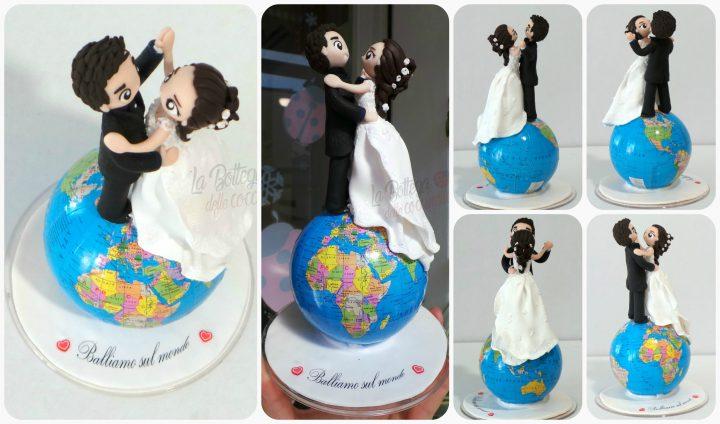 decorazione per torta nuziale - personalizzate - fatte a mano