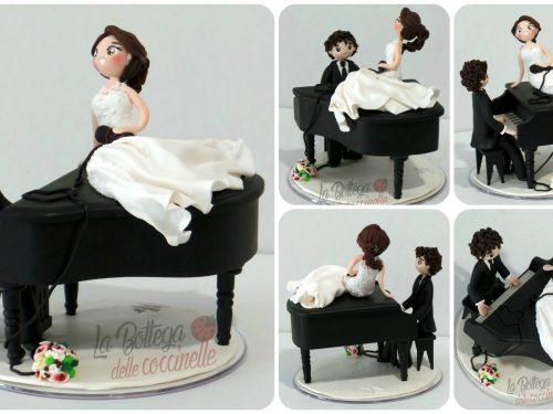 decorazione per torta nuziale – personalizzate – fatte a mano