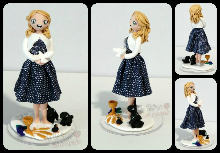 cake topper per comunione/cresima