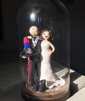 I miei sposi con i loto cake topper