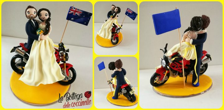 cake topper con motocicletta