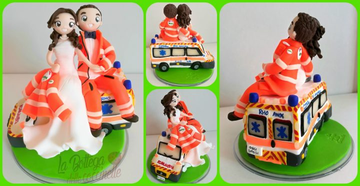 cake topper con ambulanza
