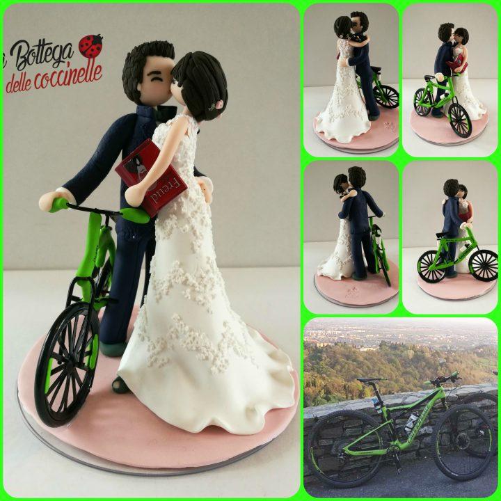cake topper con bicicletta