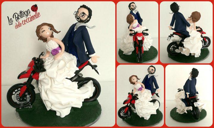 cake topper con moto