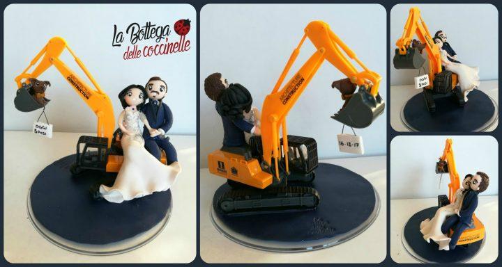 cake topper con escavatore