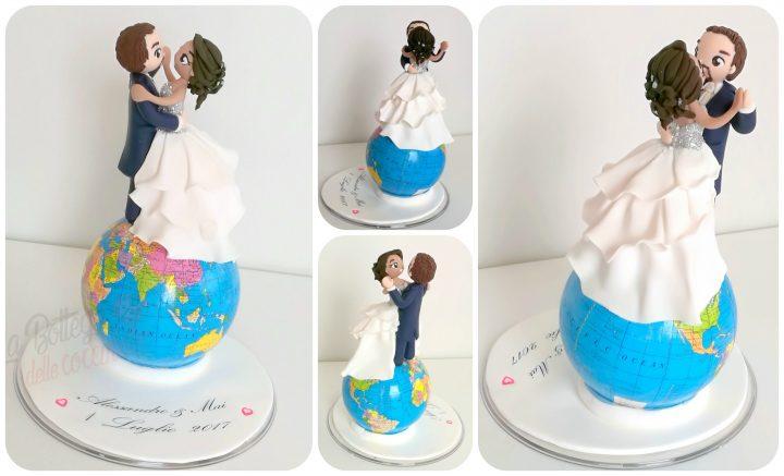 cake topper tema viaggio