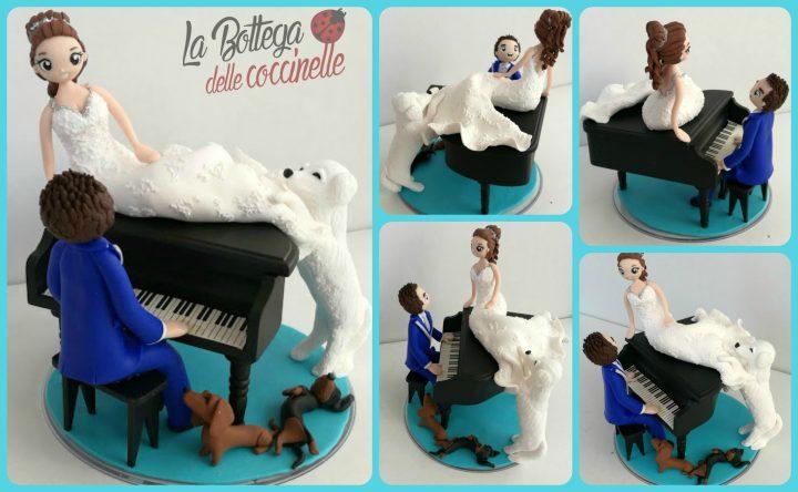 cake topper con strumenti musicali - pianoforte