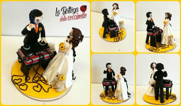 cake topper con strumenti musicali - dj