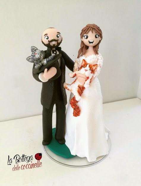 cake topper con gatti