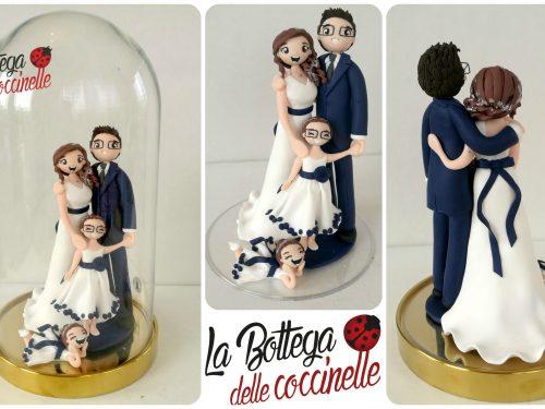 cake topper matrimonio, personalizzati, fatti a mano in fimo