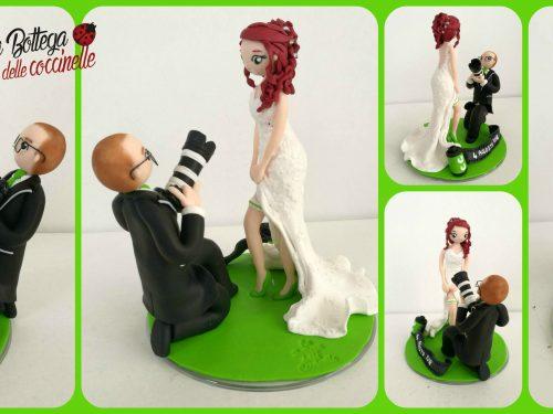 cake topper sposi divertenti e spiritosi, fatti a mano e personalizzati