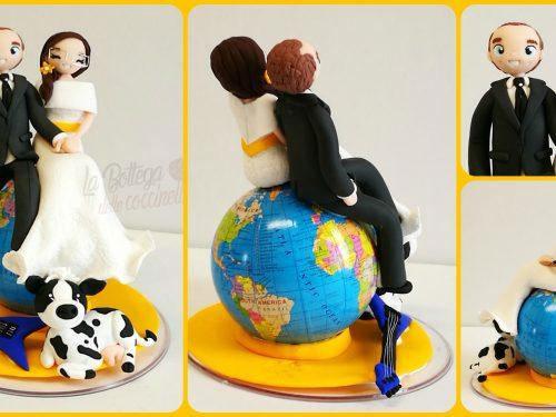 cake topper con strumenti musicali, passione musica
