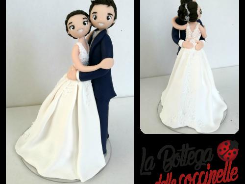cake topper SPOSI, per matrimonio romantico