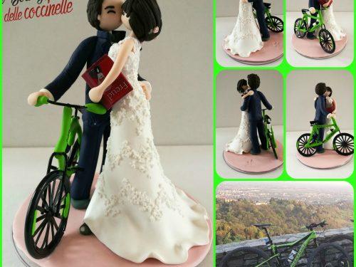 cake topper sposi, con veicolo (macchina- camion- escavatore-  ambulanza- moto-ecc)