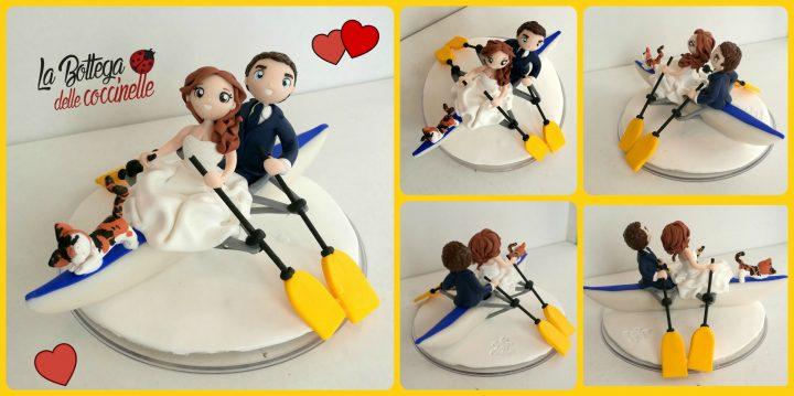 topper sposi con barca