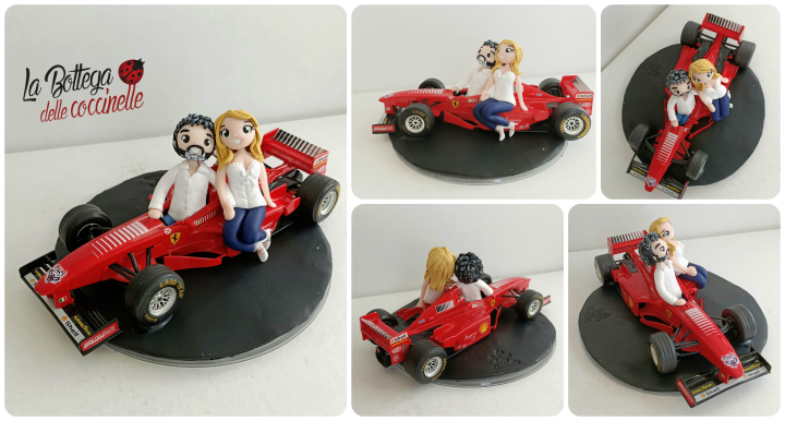 cake topper sposi con macchina formula 1 (modellino 18 cm) #formula1 #ferrari #spositorta