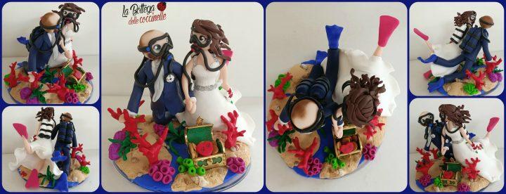 cake topper sposi sub