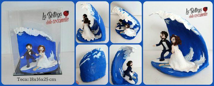cake topper sposi surfisti